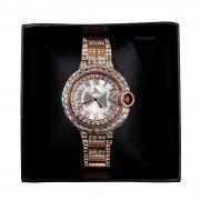 Relógio Sk Time Quartz Cristal Swarovski Material inoxidável