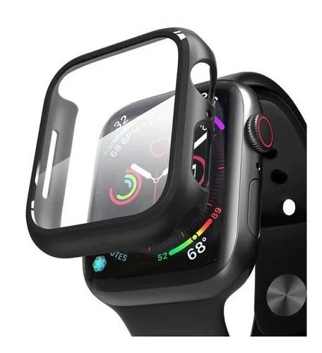 Capa Proteção Case Bumper Vidro App Smart Watch C/ Película