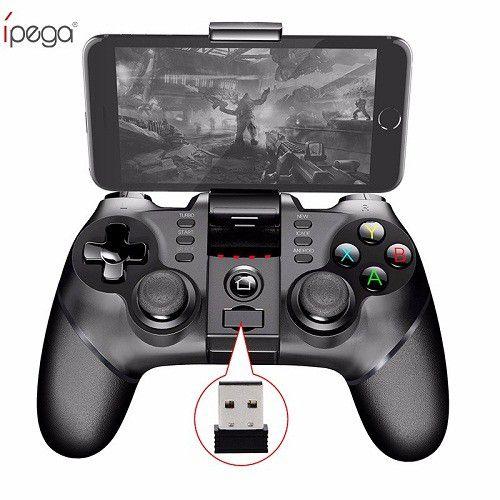 Controle com Adaptador Bluetooth Ipega PC - Celular - PS3 - PS4 PG-9076