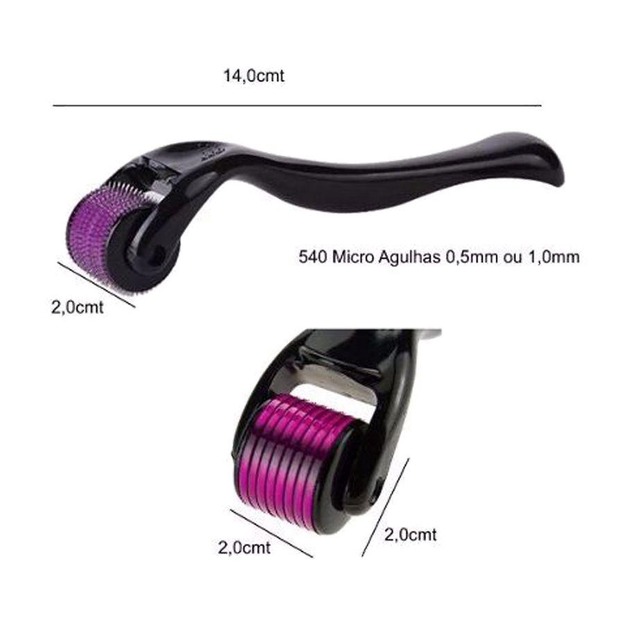 Dermaroller Skin Roller System Anti Rugas 0.50mm 1.0mm e 1.5mm