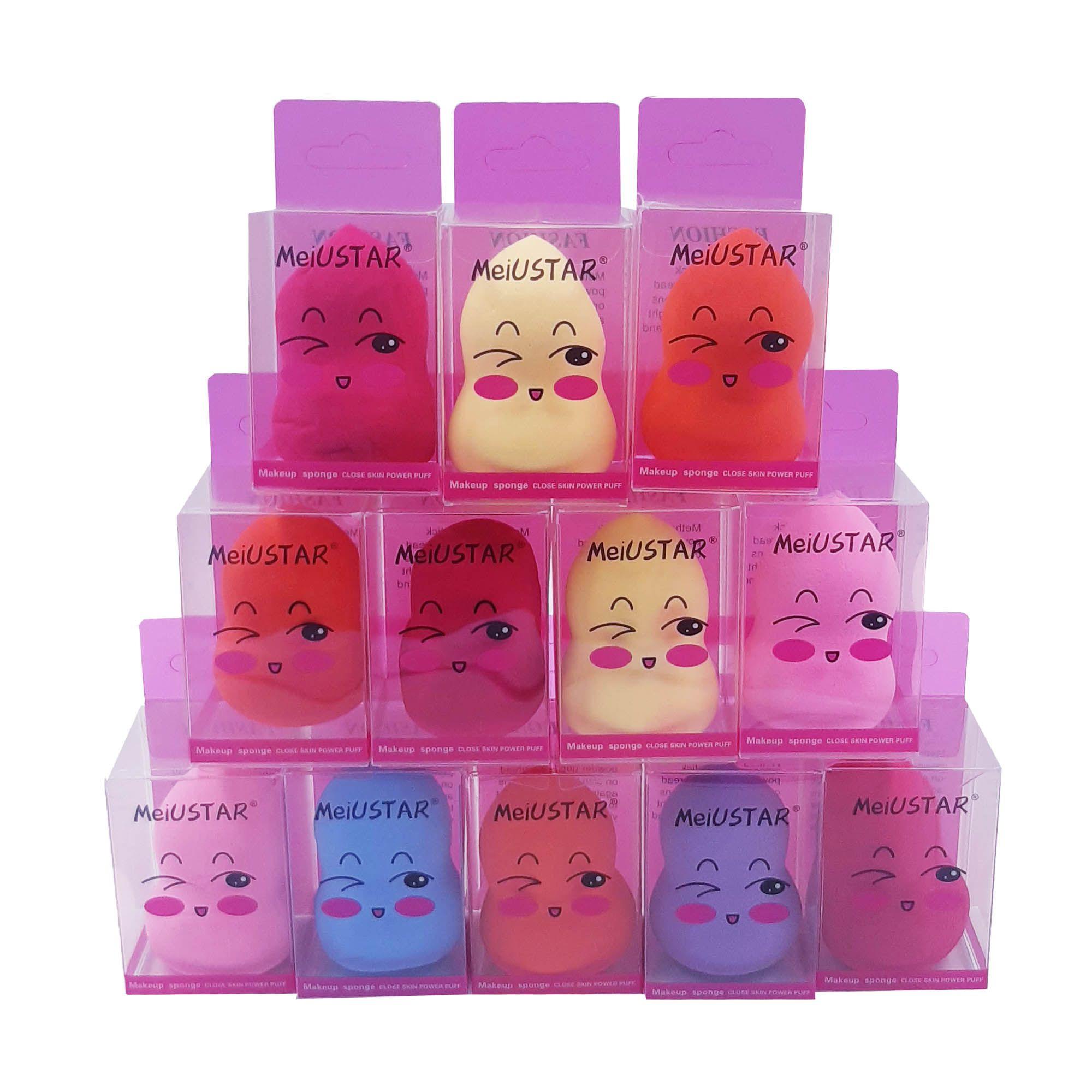 Esponjas Para Maquiagem Profissional - Base e/ou Corretivo - Display C/12