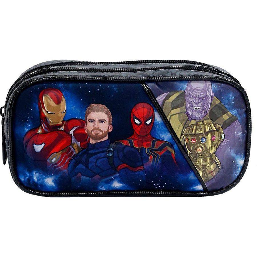 Estojo Escolar Duplo Avengers Doomed Os Vingadores - 7505