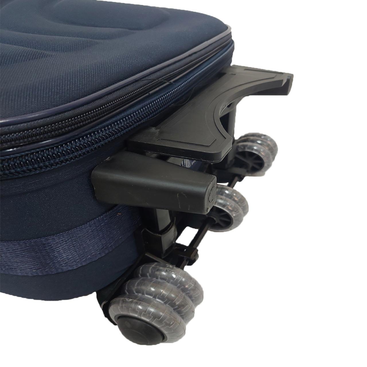 Kit 3 Mala de Viagem em Tecido de  Nylon Com Expansor e Ziper - 17113