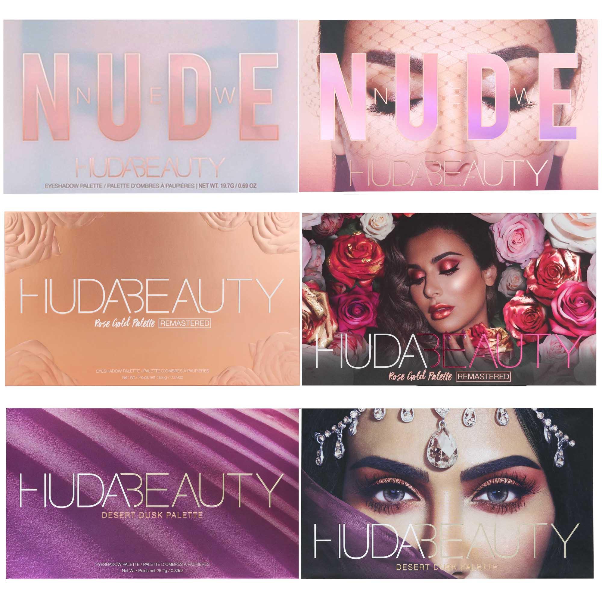 Kit 3 Paletas De Sombra - Hud Beauty Pallete - New Nude Rose Gold Desert Dusk
