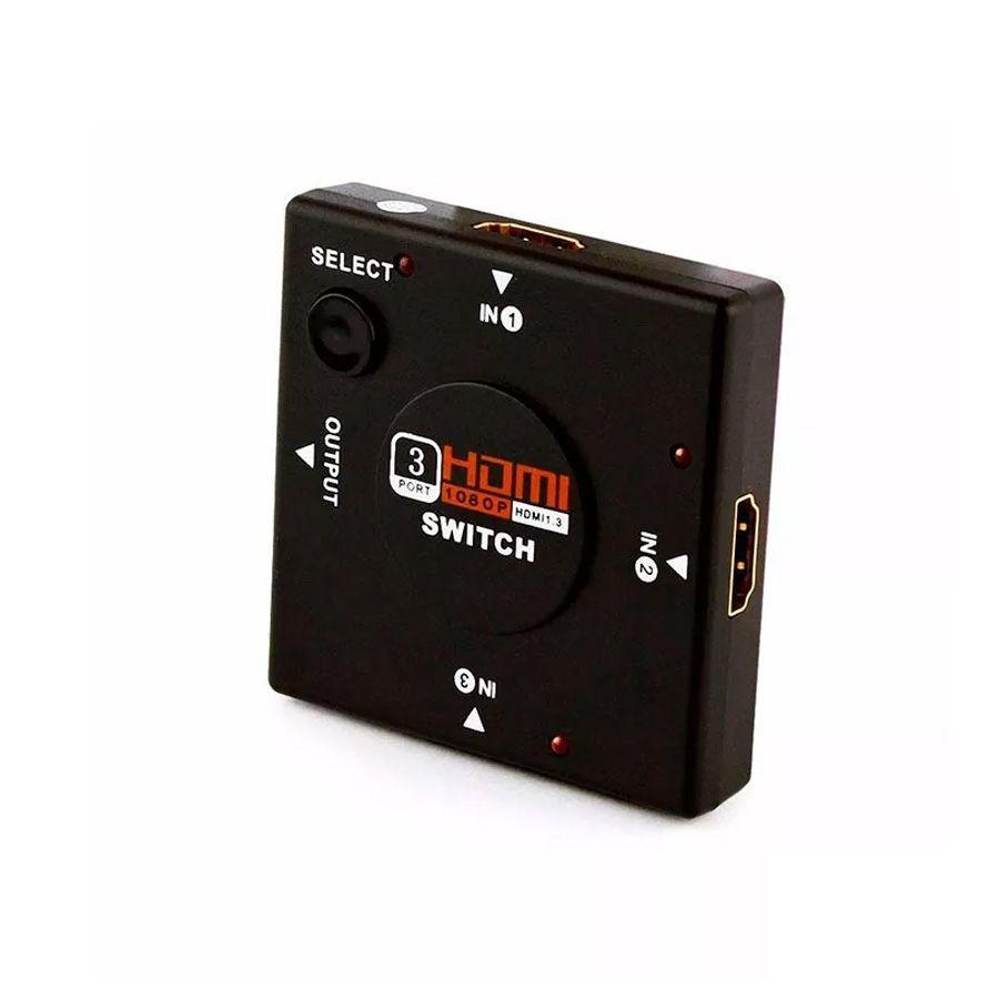 Kit C/ 10 Adaptadores HDMI Switch Lelong 3x1- LE-4111K10