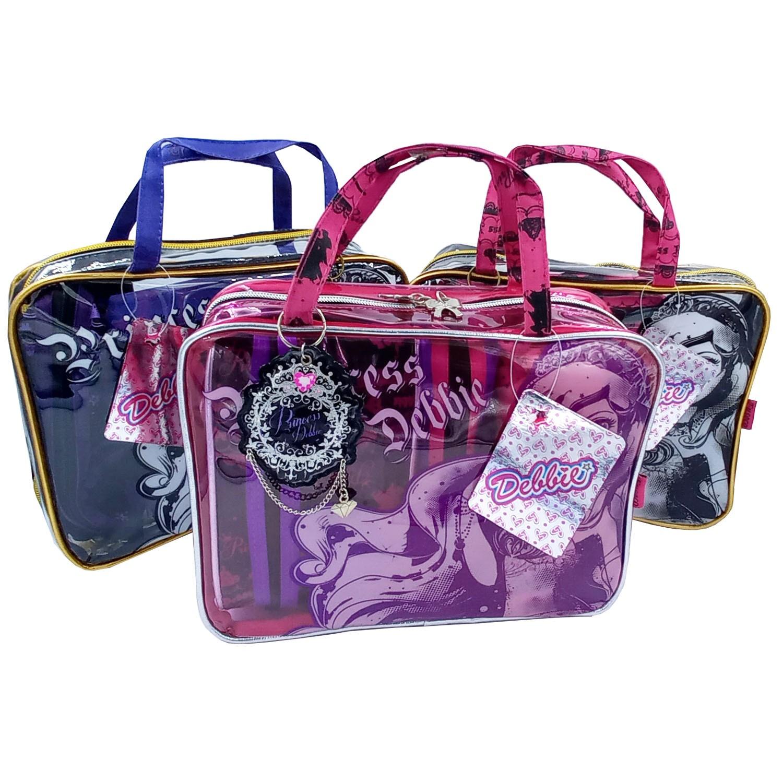 Kit com 3 Estojos + Bolsa Fuseco - Debbie Princess