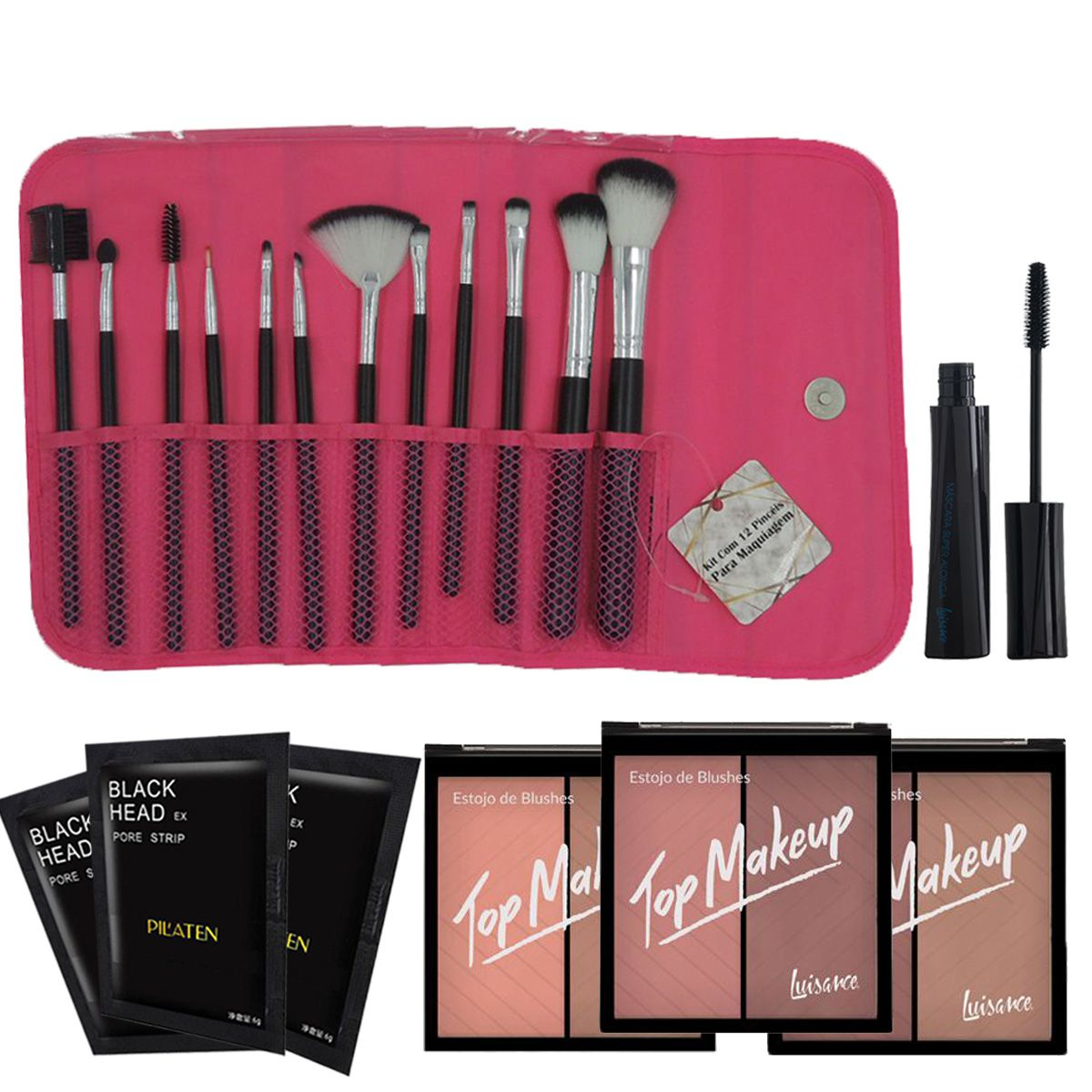 Kit de Maquiagem rubyrose luisance Completo 32 Itens C/ Necessaire de BRINDE