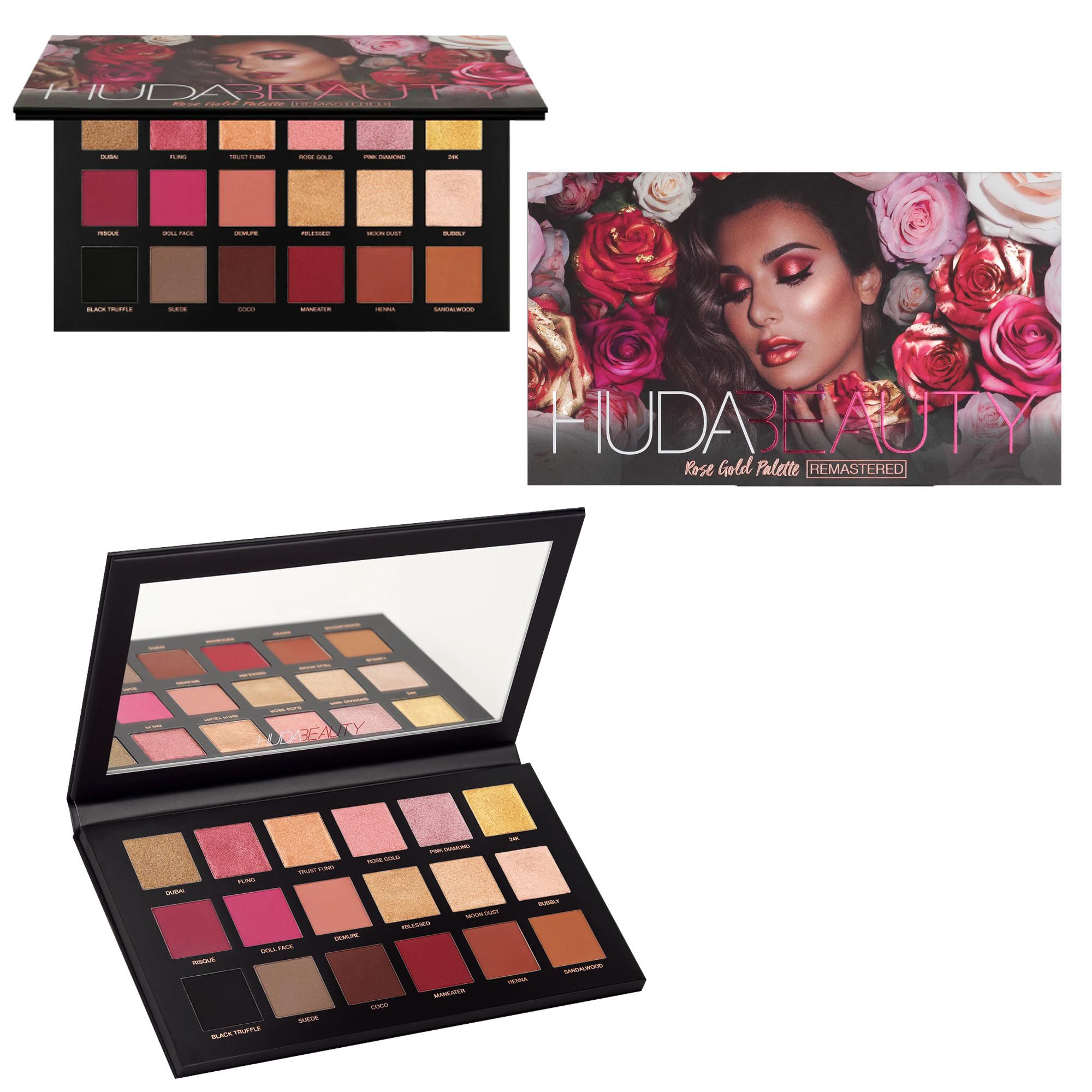 Kit de Maquiagem Paletas de Sombra Hud Beauty C/10 Pincéis + Brindes