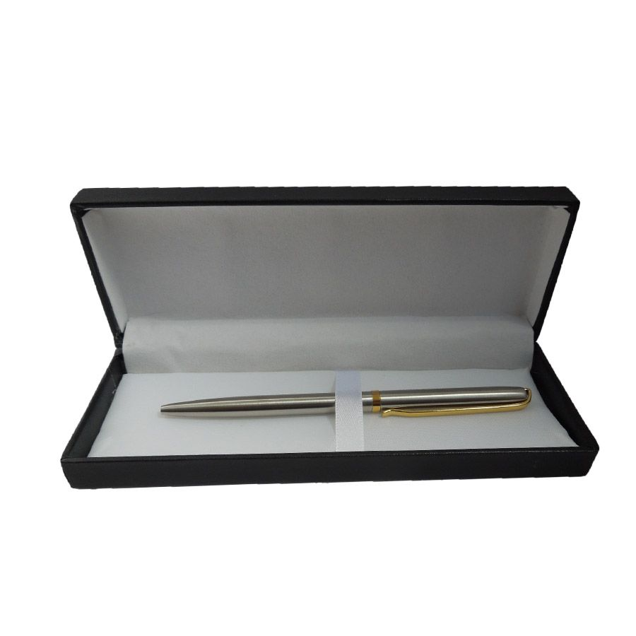 Conjunto Caneta Esferográfica Fina com Estojo e Três Cartuchos de Tinta