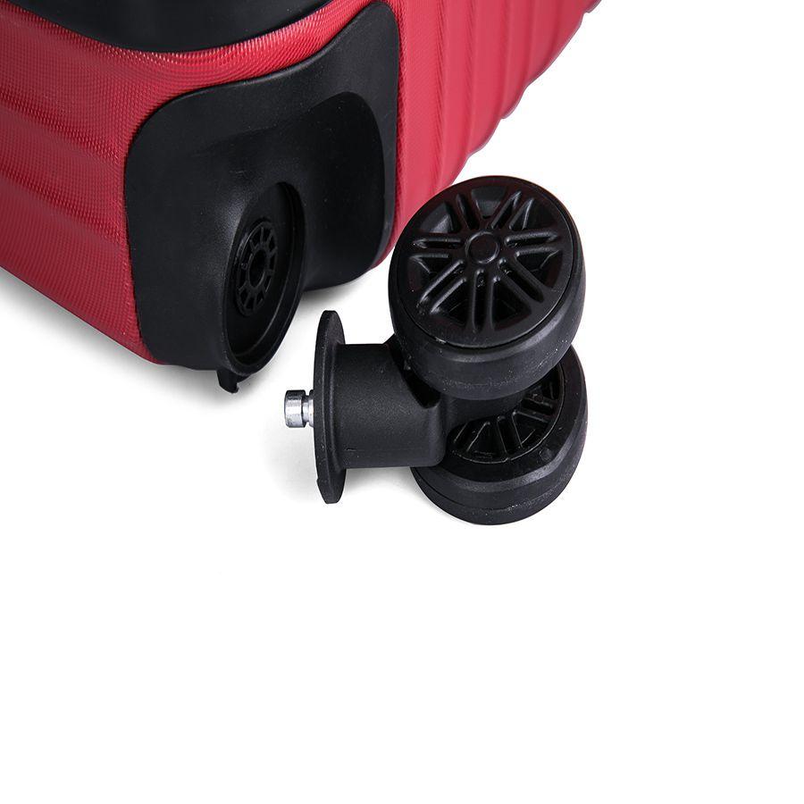 Kit C/ 5 Malas Viagem Fibra ABS 360º Anti Furto - 18109