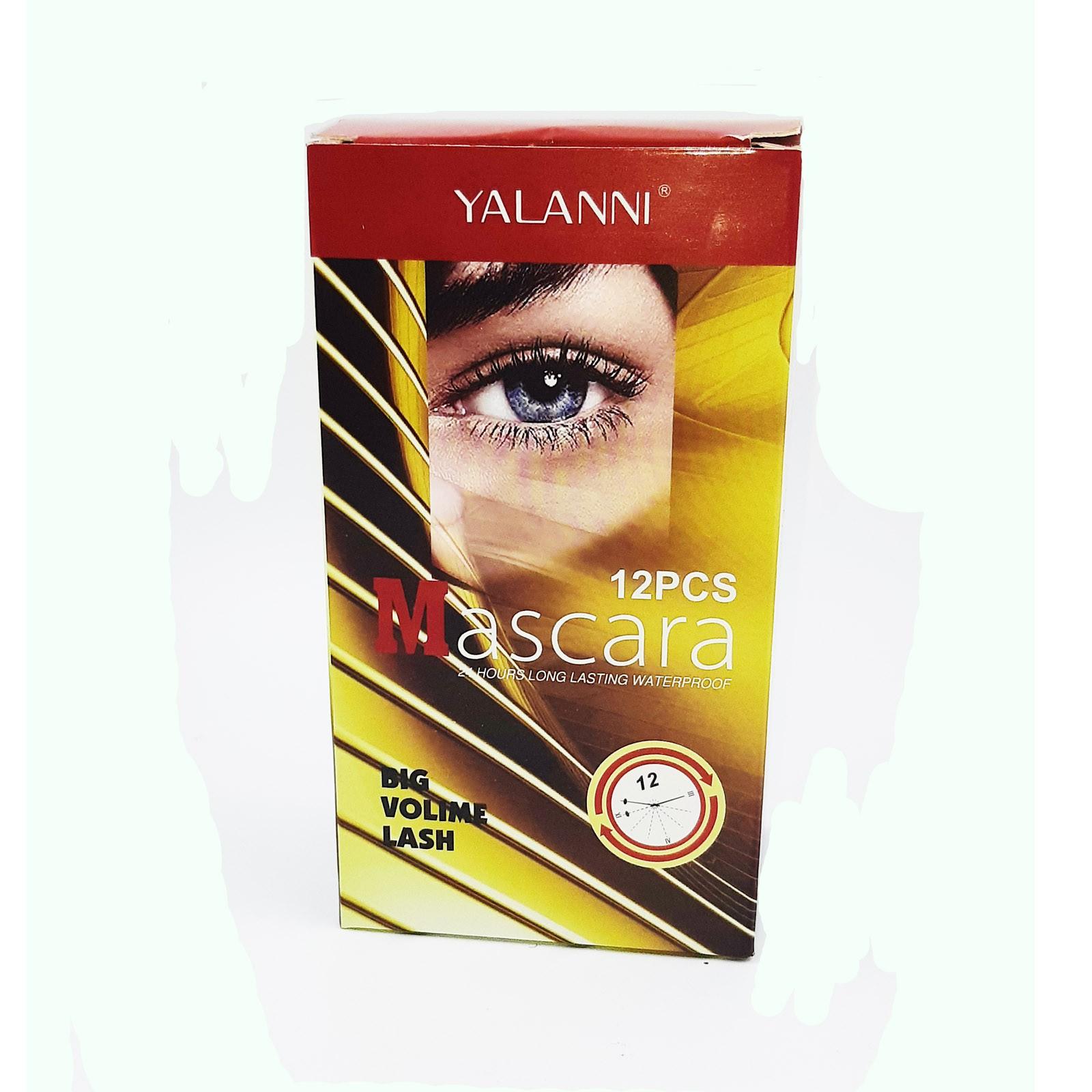 Máscara de Cílios Profissional 2 em 1 Yalanni - Big Volume Display C/12