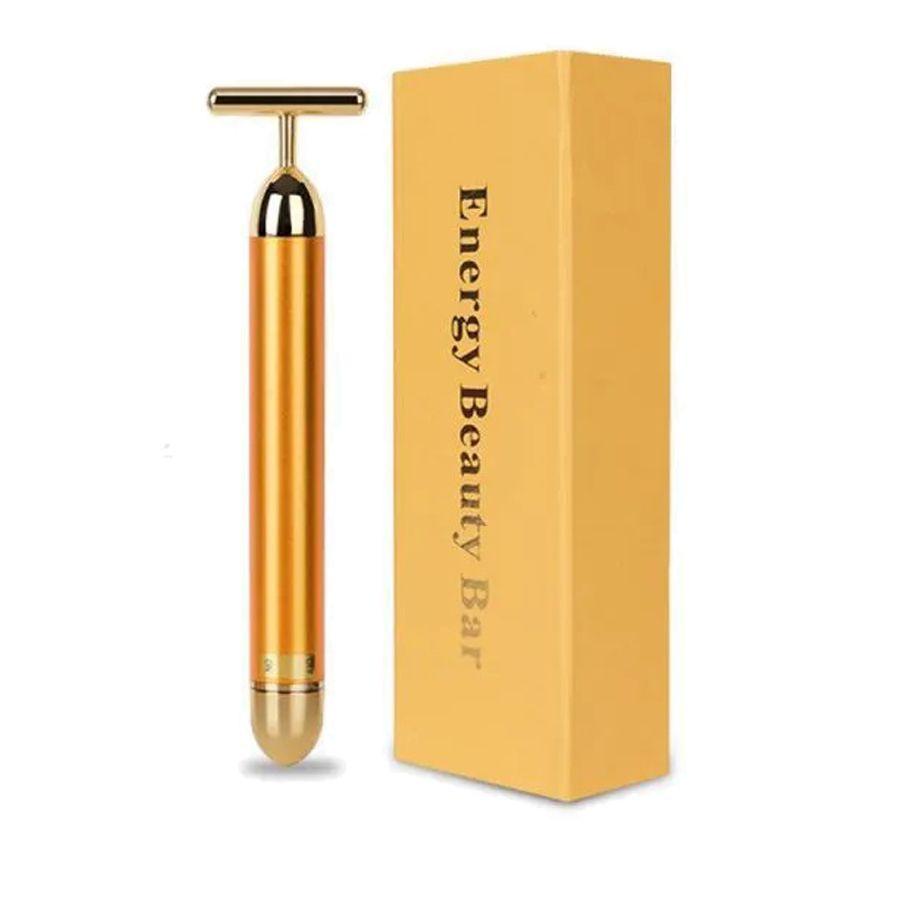 Massageador Facial Vibrador Energy Beauty Bar Gold - EBB