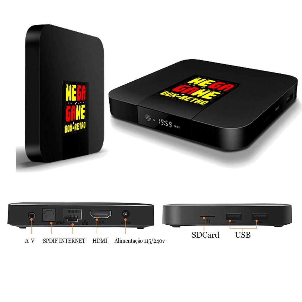 Mega Game Box 2 - Console Super Retro + 7.800 Jogos 2 Controle XBOX - 32GB