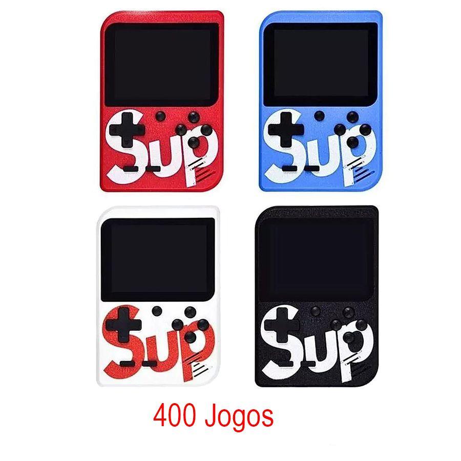 Mini Game Retrô Portátil Sup Box C/ 400 Jogos Clássicos - 400Sup