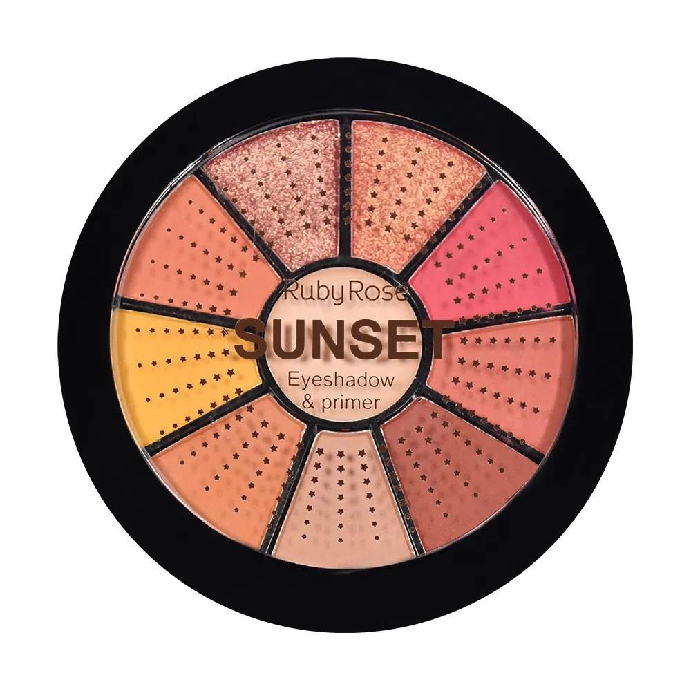 Mini Paleta de Sombras - Ruby Rose - 9 cores / 1 primmer