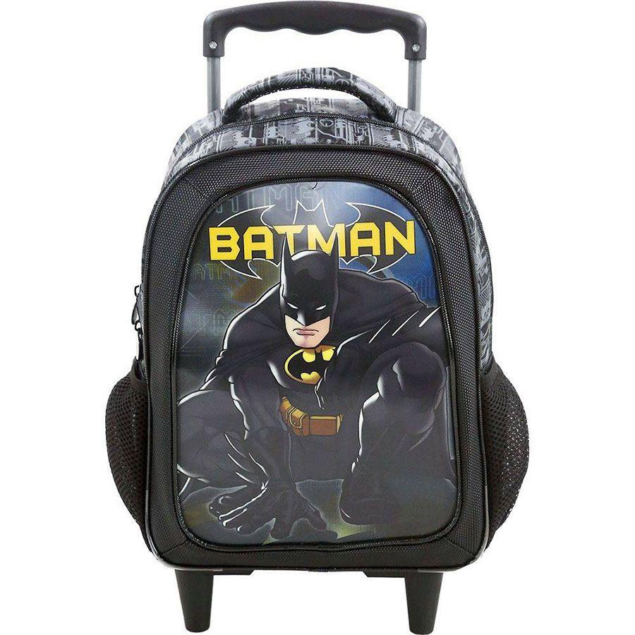 """Mochila Com Rodas 16"""" Batman 7580"""