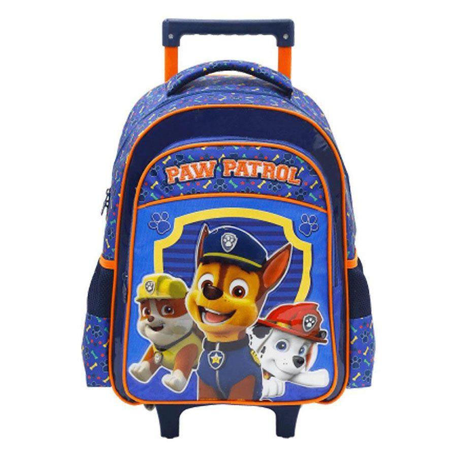 "Mochila Infantil 14"" Paw Patrol C/ Rodas Original - 7991"