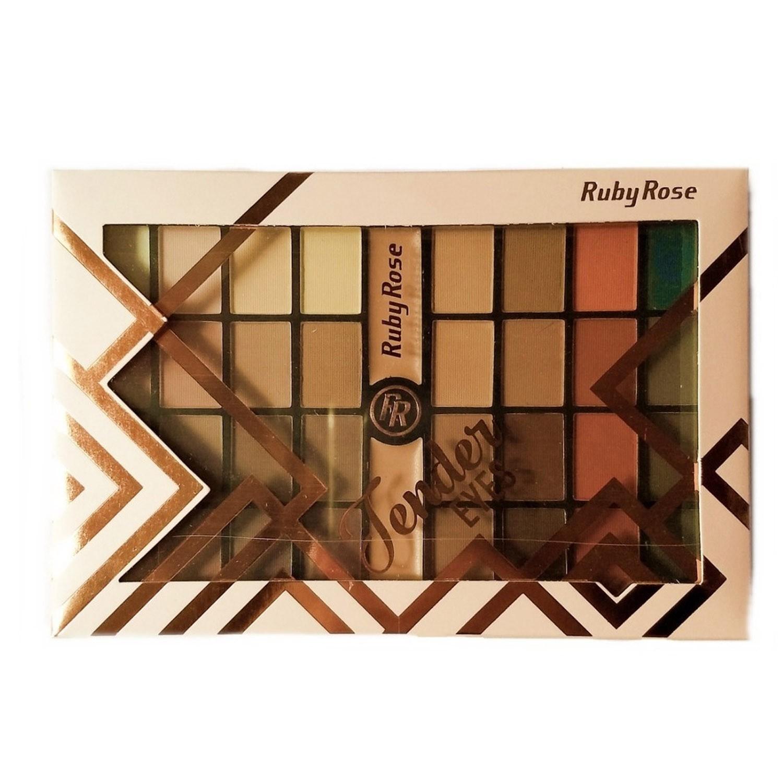 Paleta de Sombra Tender Eyes - Ruby Rose 32 Cores