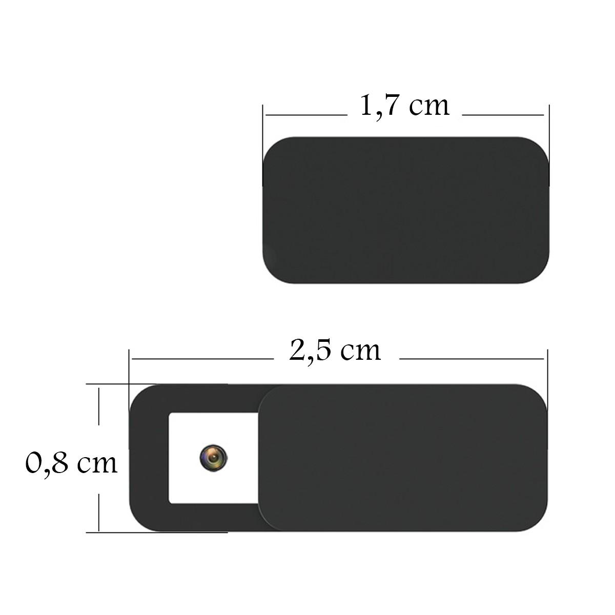 Protetor de Webcam Privacidade Notebook Tablet Celular 5 un.