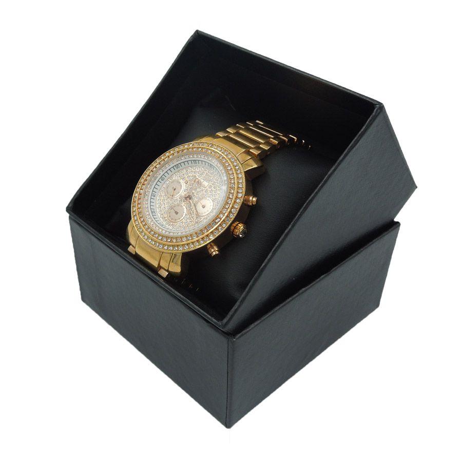 Relógio De Pulso Cristal Swaroski Japao Quartz - SKTIME