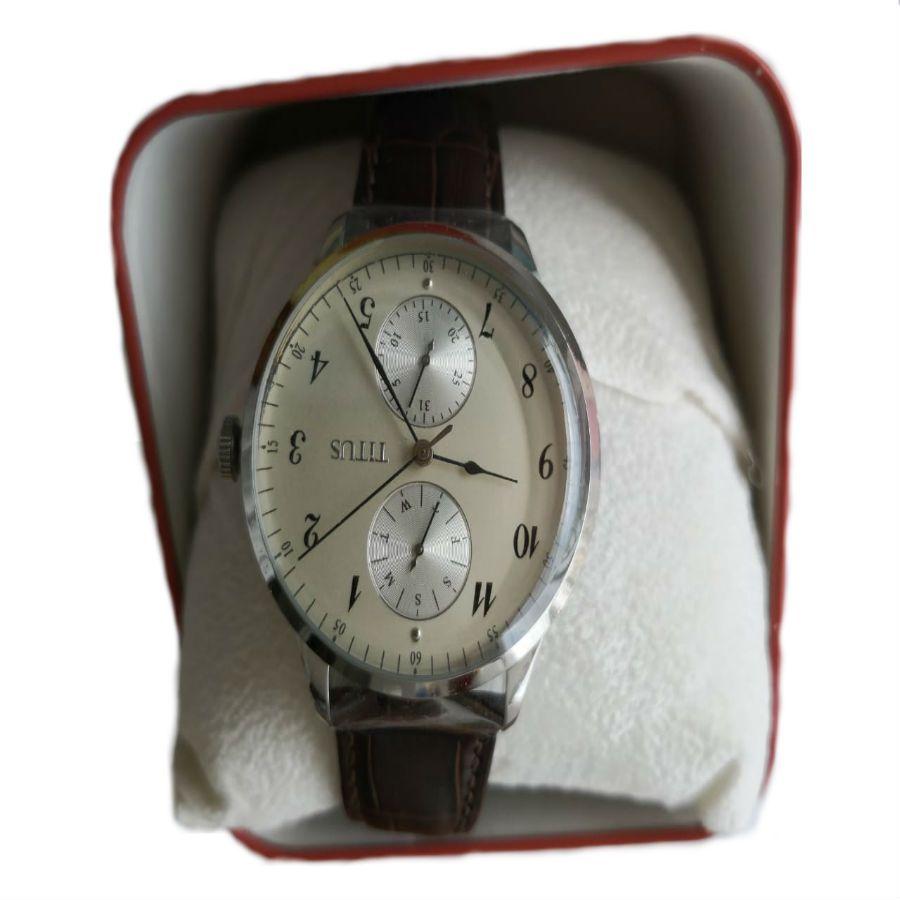 Relógio Masculino TITUS - Couro - Swk006