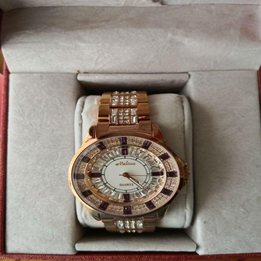 Relógio Feminino Japan Quartz - Cristal Swarovski - Swk007