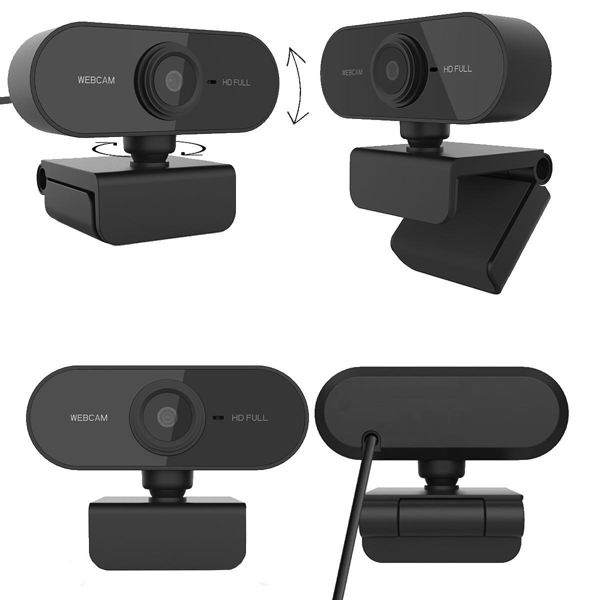 Webcam FULL HD 1080p com Microfone USB 2.0