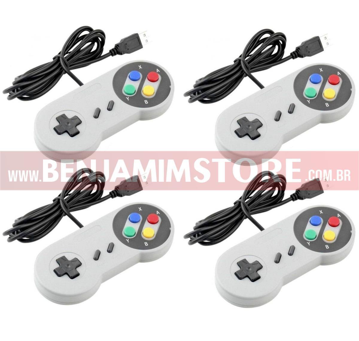 10 Controles USB Super Nintendo Snes Joystick Windows
