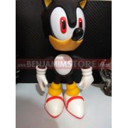 Boneco Grande 20cm Sonic Black Collection