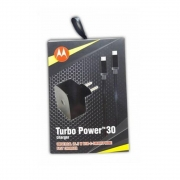 Carregador Turbo Power Charger 3.0 Tipo C Motorola