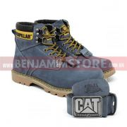 Kit Bota Coturno Caterp Cinza + Cinto