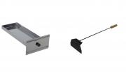 Puxador de cinzas + gaveta cinzeiro em aço inox 430 Lobo Churrasqueiras
