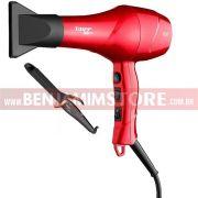 Secador Taiff Red Ion 1900w + Modelador De Cachos Taiff Curves 1 Polegada 25mm