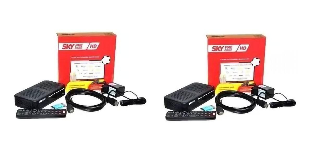 2 Receptores Sky-Pré Pago Flex HD com Conectividade HDMI
