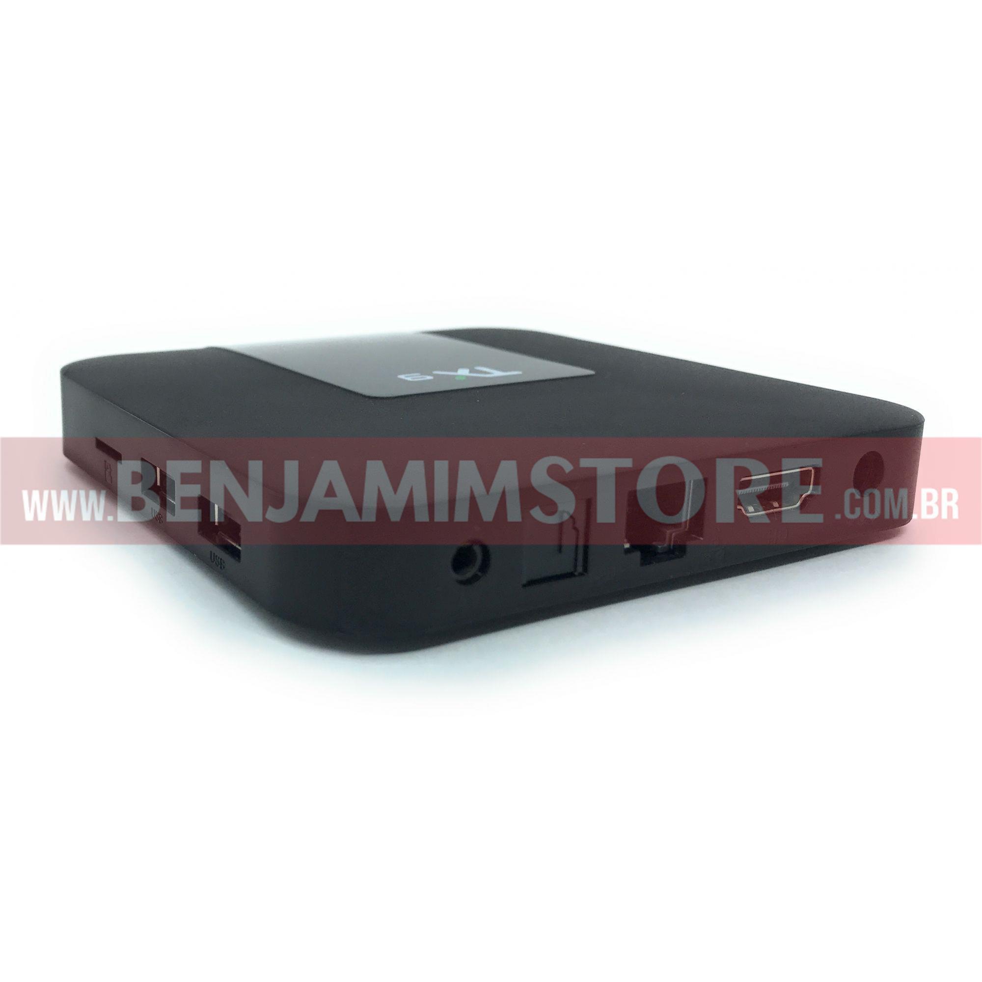 Aparelho Transforma TV em Smart TX9 4k 4gb de ram + 32 gb de armazenamento
