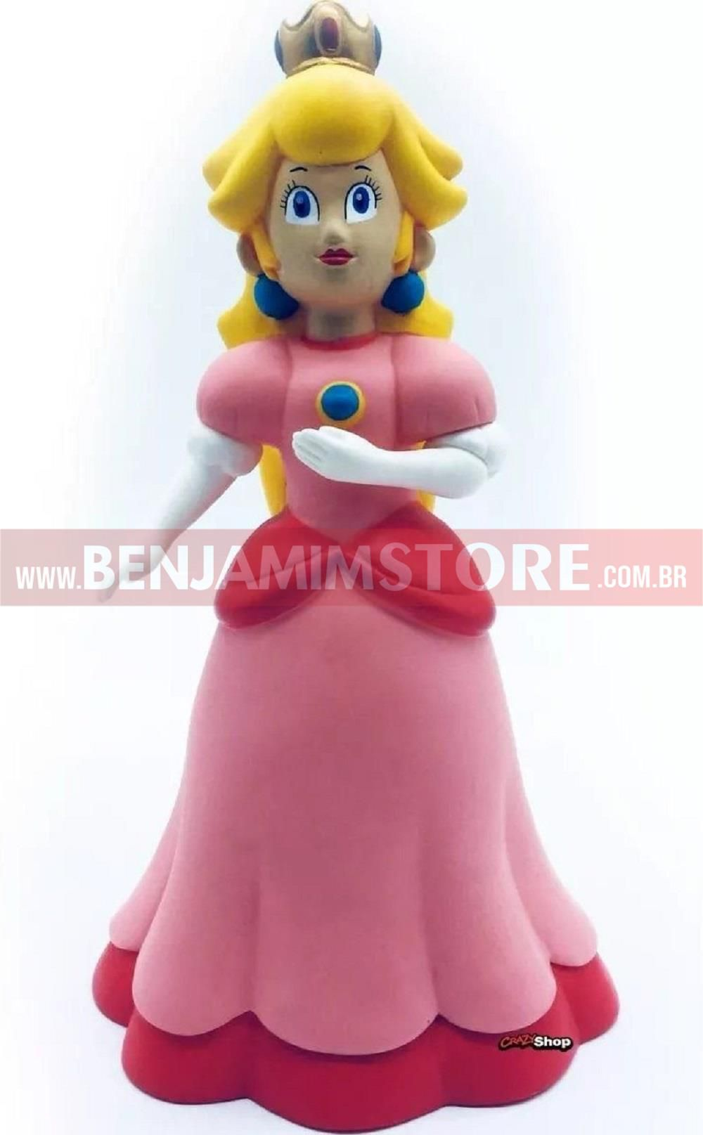 Boneca Princesa Peach Princess Super Mario Bros 20 Cm