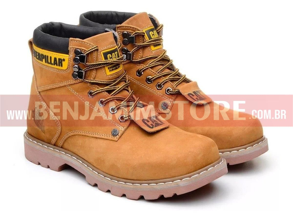 Bota Coturno Adventure Botina Caterp Couro Caterp Original + Cinto