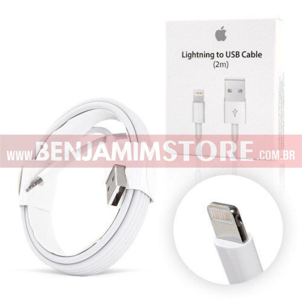 Cabo Dados USB p Iphone 2m 5 5 S C 6 6p 7 7p 8 8p X XS XMAX