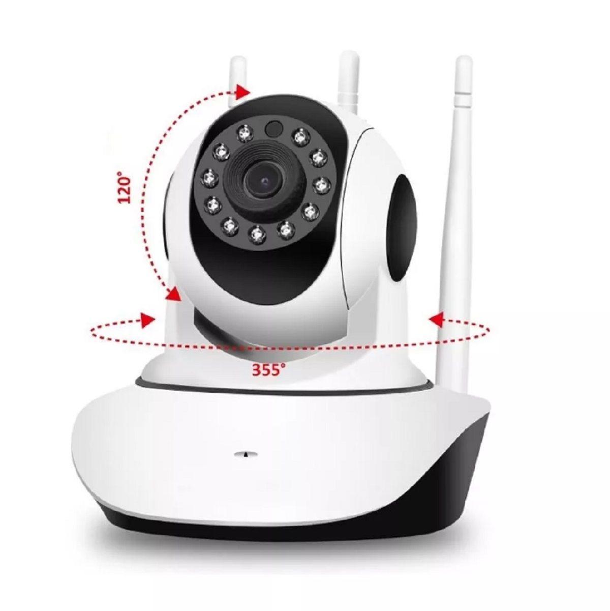 Câmera Ip 3 Antenas 3ª Geração 1.3 Mp Wifi Hd 720p Segurança