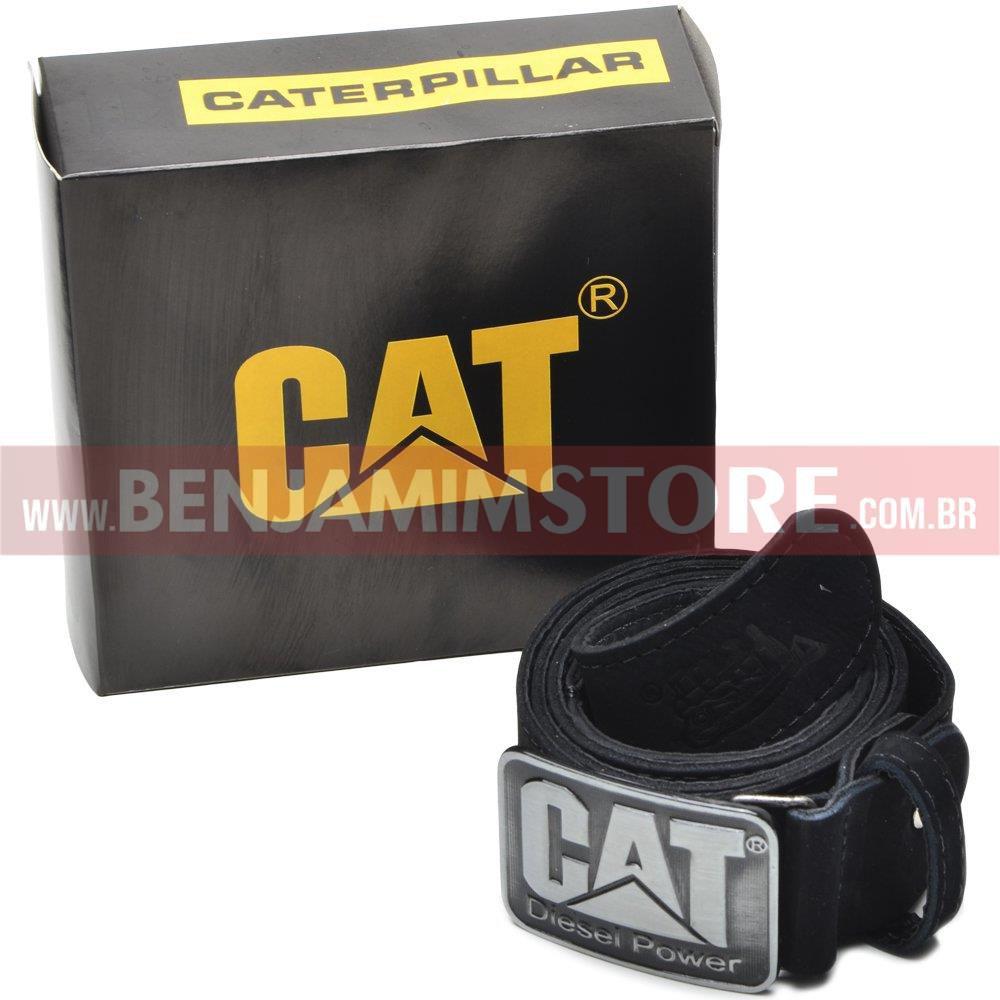 Cinto Cat Caterpillar em Couro Legítimo Diesel Power