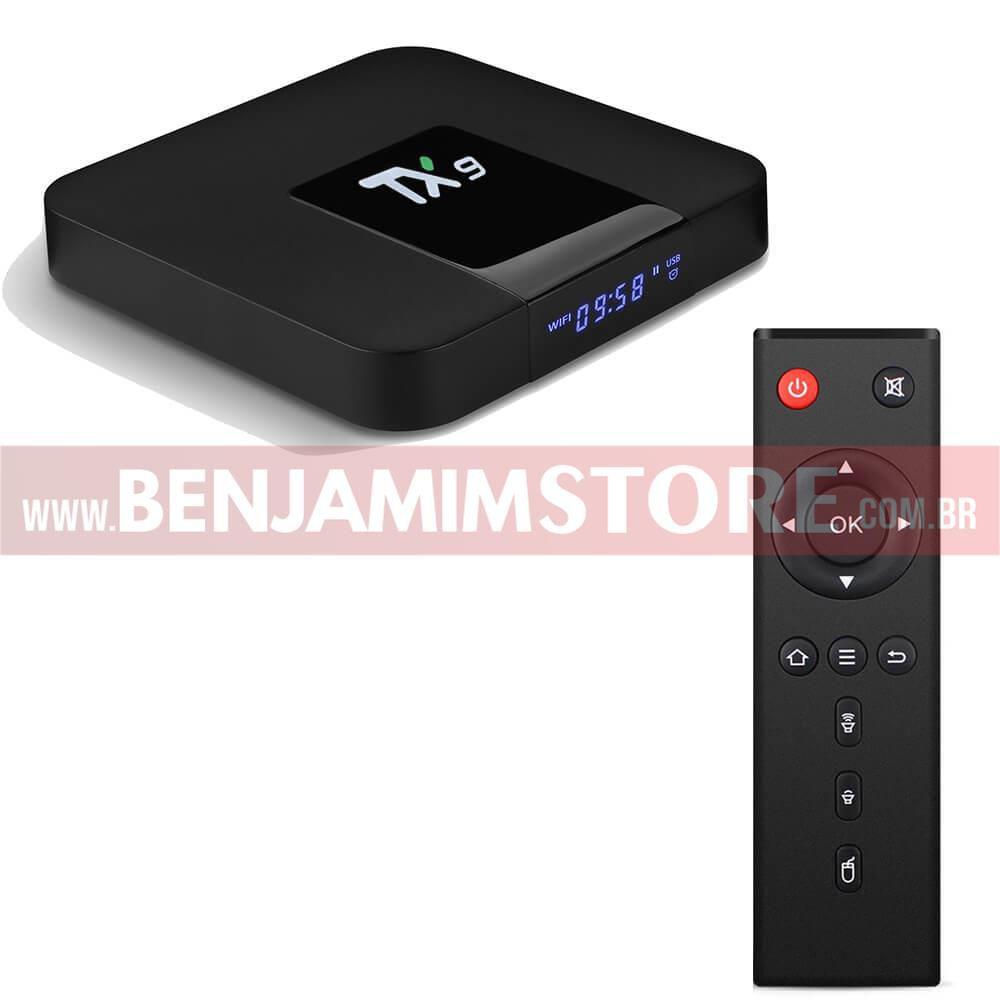 Conversor smart TX9 4k 4gb de ram + 32 gb de armazenamento