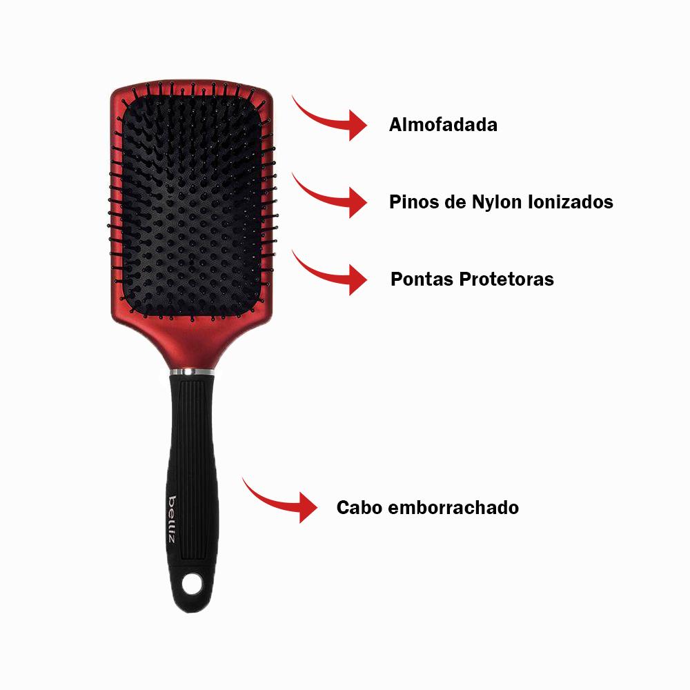 Escova de Cabelo para Desembaraçar - Racket Ion Belliz