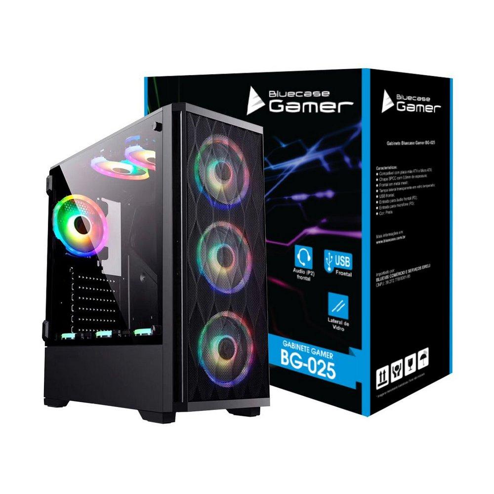 Gabinete Gamer BG-025 Bluecase