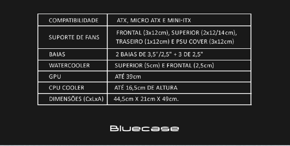 Gabinete Gamer Bluecase BG-026 Wolf