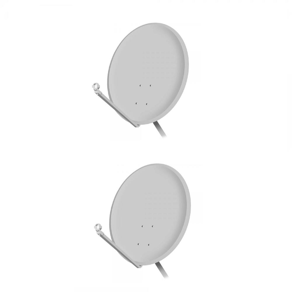 KIT 2 ANTENAS  ORIGINAL BANDA KU 60 cm + LNBF SIMPLES + KIT FIO 17 M