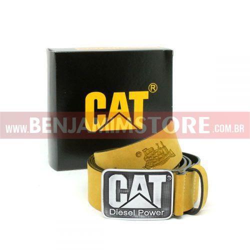 Kit Bota Coturno Caterp Amarela + Cinto