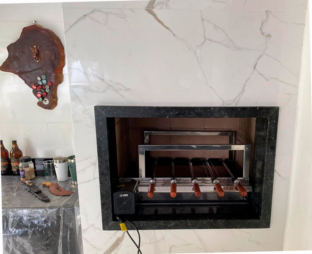 Kit Giratório em Aço Inox 430 GSA Plus regulável 5/59 Lobo Churrasqueiras