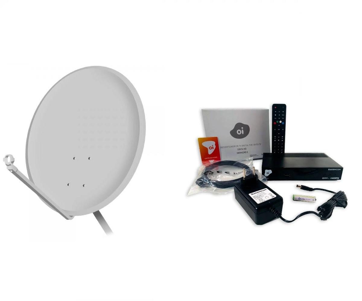 Kit OI TV Livre + Antena 60 cm Segunda Geração