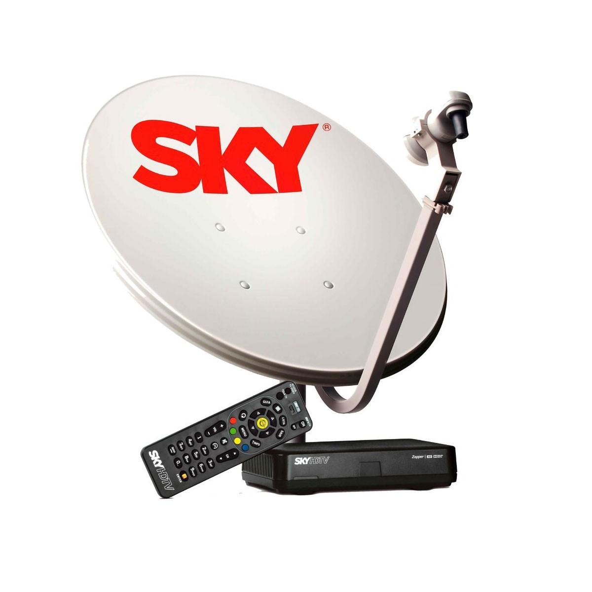 Kit Sky Pré Pago Flex HD Antena 60 cm