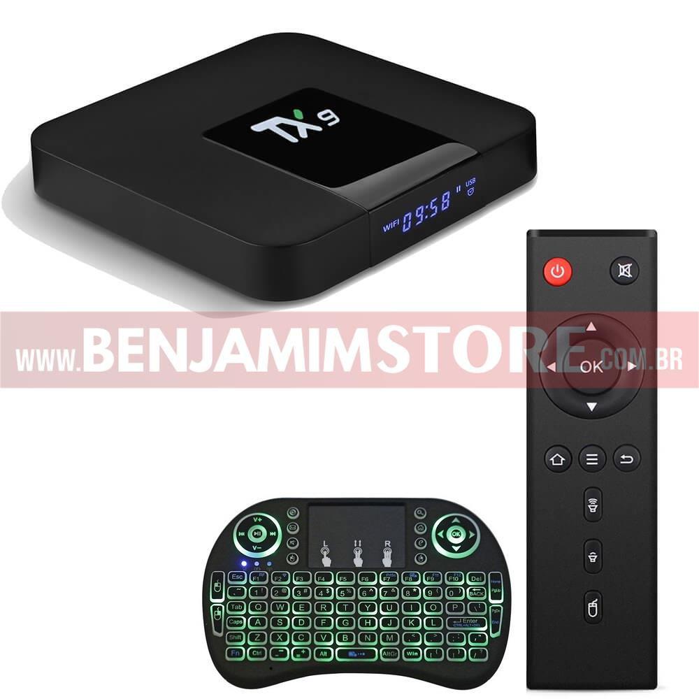 Media Streaming TX9 2 Gb de Ram 16 Gb de Room + Teclado Led